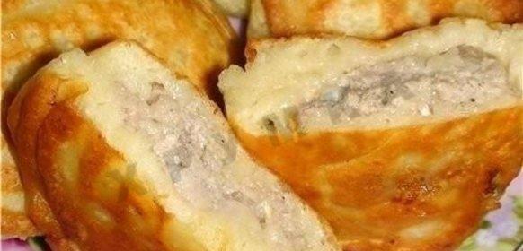 Ленивые пирожки с фаршем рецепт с фото