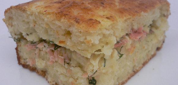 Быстрый пирог с красной рыбы рецепт
