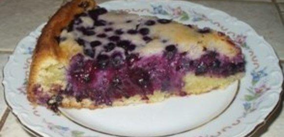 Пирог с черникой в духовке рецепт с фото пошагово