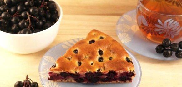 Фото рецепт пирога с черноплодной рябины