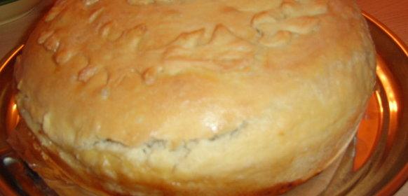 Пирог с мясом и картошкой с пошагово