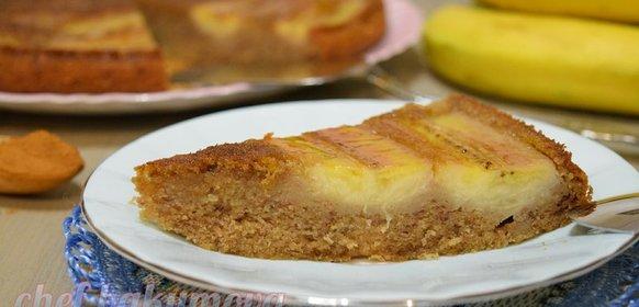 Банановый слоеный пирог рецепт с фото