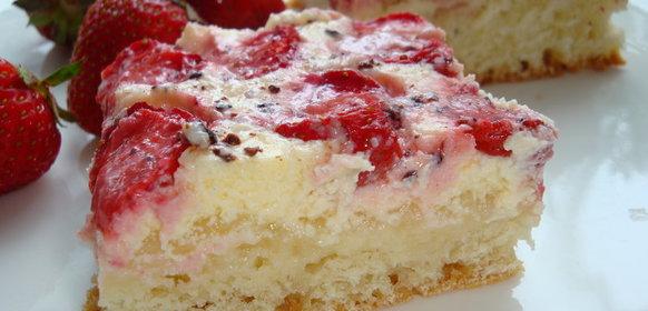 Пирог с лесной клубникой рецепты