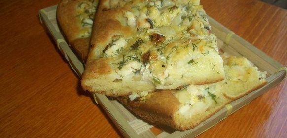 Пирог с куриным филе рецепт пошагово