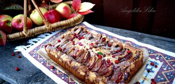 Пирог яблочный с корицей рецепт быстрый