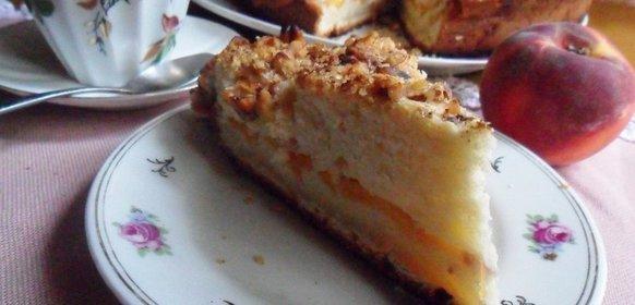 Пирог с персиками на сметане рецепт