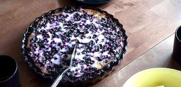 Пирог с черникой с пошагово