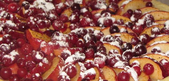 Пирог с яблоками и клюквой рецепт с