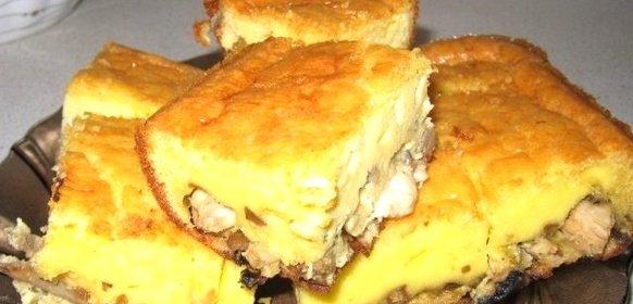 Пирог с грибами рецепт с фото пошагово
