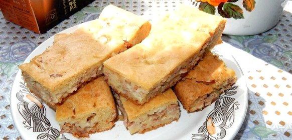 Заливной пирог пошаговый рецепт с фото
