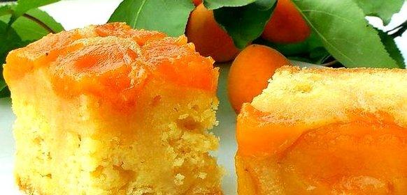 Пирог перевертыш с абрикосами рецепт